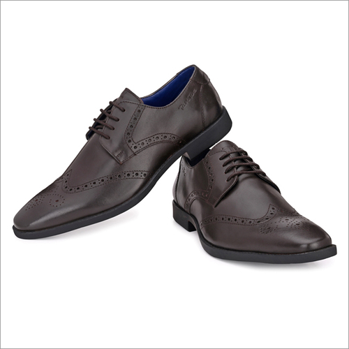 Men Brown Leather Brogue Shoes