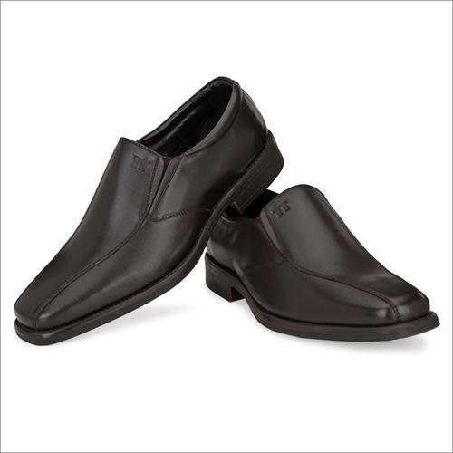 Men Brown Leather Formal Slip On Shoes