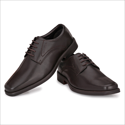 Men Brown Leather Formal