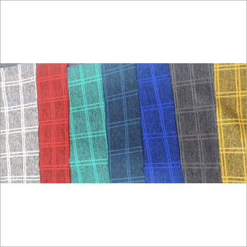 Knitted Polyester Check Fabric