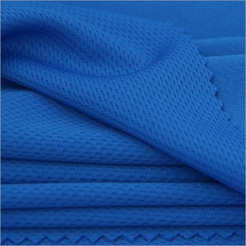 Blue Polyester Knitted Fabric