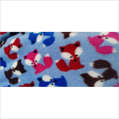 Printed Coral Fleece Fabric