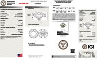 Round Brilliant Cut HPHT 1.20ct Diamond G VS2 IGI Certified Lab Grown TYPE2 445056298