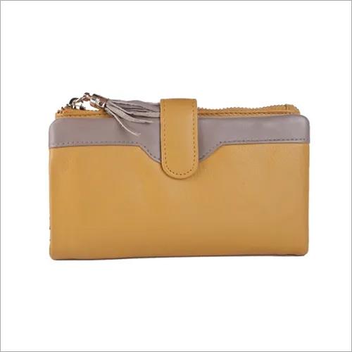 Ladies Yellow Leather Purse