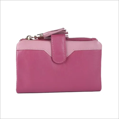 Ladies Pink Leather Purse