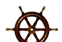 15 Inch Wooden Ship Wheel with Brass Handle and Ring