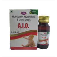 Multivitamin Multimineral And Lysine Drops