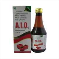 Lycopene Cyanocobalamin Multivitamin Multimineral And Anti-Oxidant Syrup