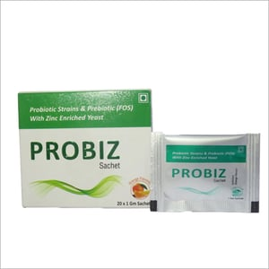 Probiotic Strains And Prebiotic With Zinc Enriched Yeast Sachet