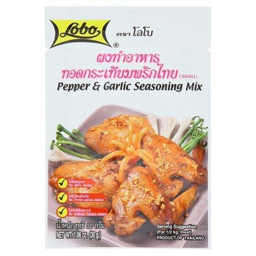 Lobo Sauce, Cooking Powder, Garlic, Pepper, 30g