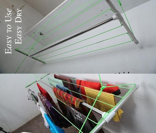 Nylon rope Type Basic Ceiling Mounting Cloth Dryer