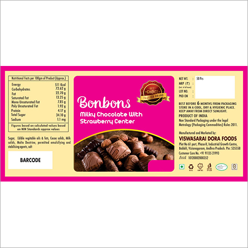 Bonbons Strawberry Center Filled Chocolate