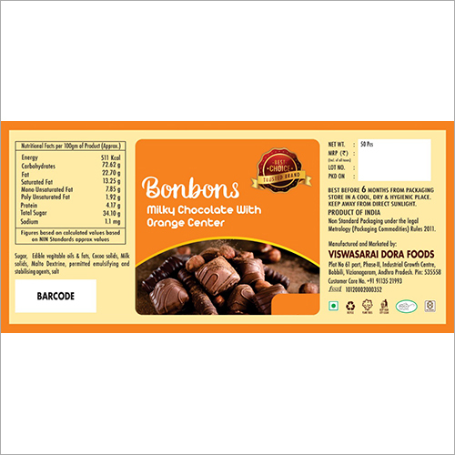 Bonbons Orange Center Filled Chocolate