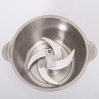Popular 2L Stainless Steel Electric Home Use Garlic Onion Vegetable Food Grinder Electrical Mini Meat Chopper