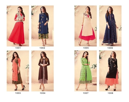 SP VOL-2 Rayon And Heavy Embroidery Work Kurti