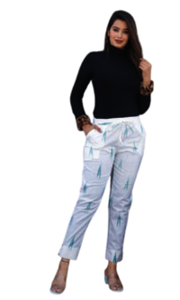 Cotton Printed Pants