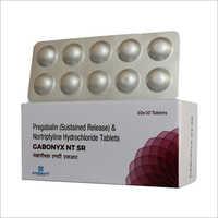 Pregabalin And Notriptyline Hydrochloride Tablets