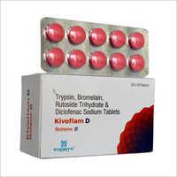 Trypsin Bromelain Rutoside Trihydrate And Diclofenac Sodium Tablets