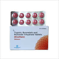Trypsin Bromelain And Rutoside Trihydrate Tablets