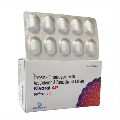 Trypsin-Chymotrypsin With Aceclofenac And Paracetamol Tablets