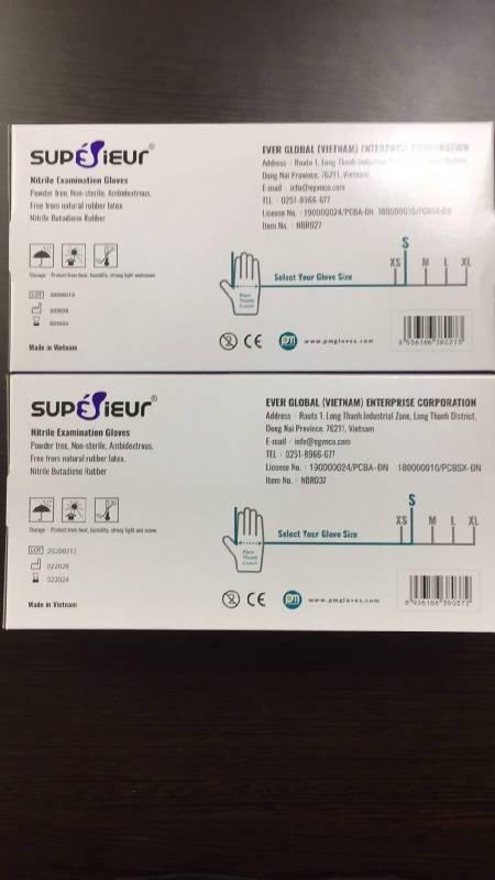 Superior Nitrile Examination Gloves, Powder Free, Non Sterile | Simply Superieur Nitrile Gloves (Powder-Free) (100 gloves)