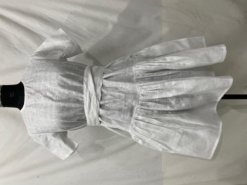 Linen Designer White Dress