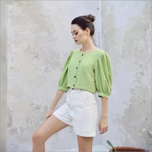 Linen Green Top Sets