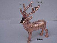 Metal Reindeer in Rose Gold Finish