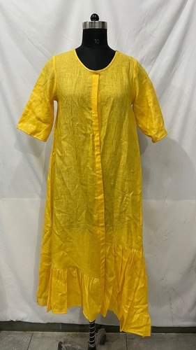 Yellow Western Dress