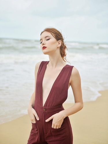Western Linen Dress