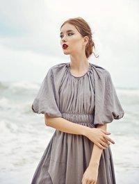 Linen Western Dress