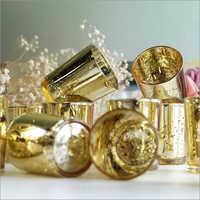 Set of 6 Mercury Glass Tealight Candle Holder