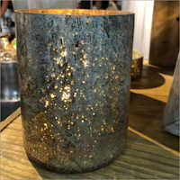 Glass Votive Antique Finish