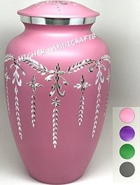 Flourish Metal Cremation Urn