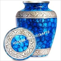 Blue Fire Cremation Urn