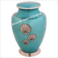 Shells Of The Sea Brass Urn