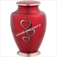 Loving Hearts Brass Cremation Urn