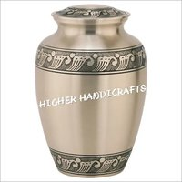 Feather Band Urn for Ashes in Pewter