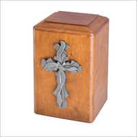 Christian Wooden Urn