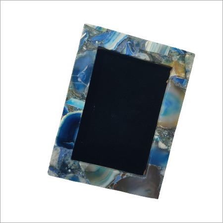 Blue Agate Photo Frame