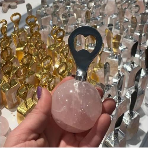 Rose quartz Bottle Opener