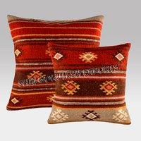 Indian style Wool Kilim Sofa Cushion Covers