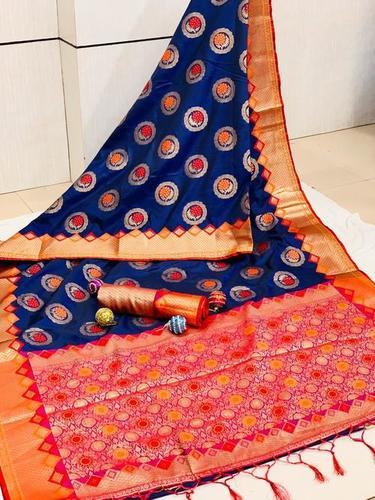 Silk Saree with Golden Zari