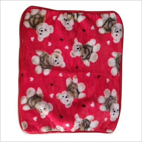 Teddy Print Baby Blanket