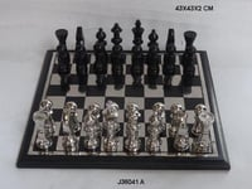 Aluminum Chess in Nickel and Black Nickel