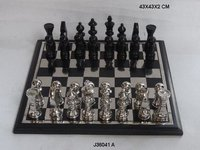 Aluminum Chess in Nickel and Black Nickel