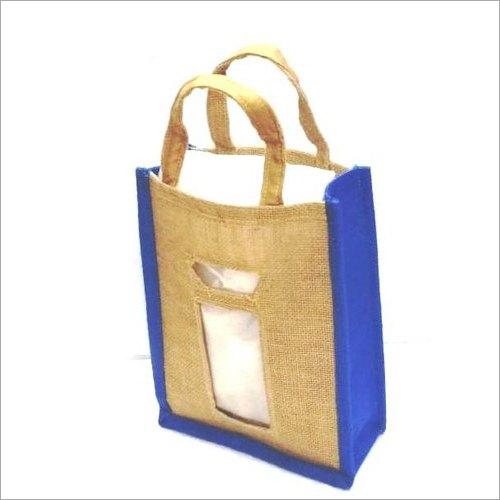 Loop Handle Jute Wiine Bottle Bag