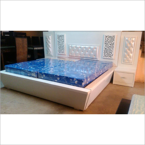 Designer White King Size Double Bed