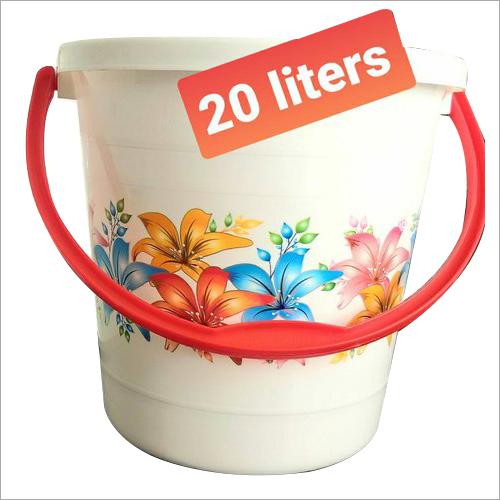 Plastic Bucket 20 Ltr Printed