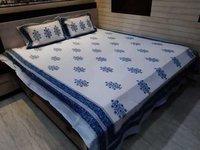 Hand Block buti print Cotton Bedsheet